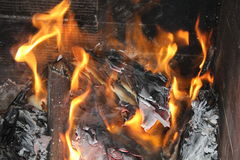 Fire and ashes. The fire consumes everything and becomes ashes royalty free stock image