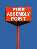 Fire assembly point Royalty Free Stock Image