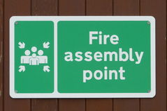 Fire assembly point sign Royalty Free Stock Photos
