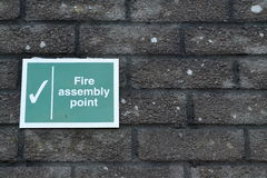 Fire assembly point sign Royalty Free Stock Image