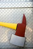 Fire Axe. Close up of Fire Axe on a Fire Truck Royalty Free Stock Images