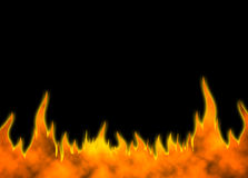 Fire Back 01. Hot fire horizontal background raster illustration. Vertical variations look in my gallery Stock Images
