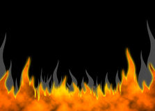 Fire Back 04. Hot fire horizontal background raster illustration Royalty Free Stock Images