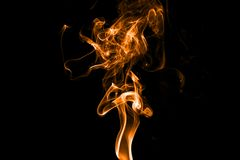 Fire on back background Royalty Free Stock Photography