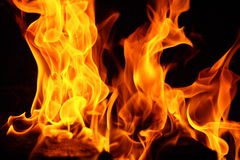 Fire backdrop Royalty Free Stock Photography