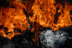 Fire Background. A background of engulfing flames Royalty Free Stock Images
