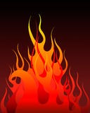 Fire background. Inferno fire  background for design use Stock Images