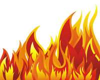 Fire background. Inferno fire vector background for design use Royalty Free Stock Images