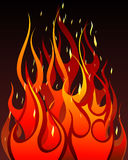 Fire background. Inferno fire vector background for design use Royalty Free Stock Photos