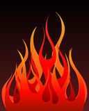 Fire background. Inferno fire vector background for design use Royalty Free Stock Photo