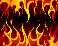 Fire background. Inferno fire vector background for design use Stock Images