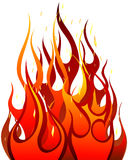 Fire background. Inferno fire vector background for design use Stock Photo
