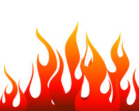 Fire background. Inferno fire vector background for design use Stock Image