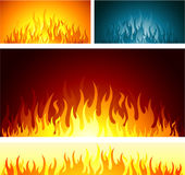 Fire background. Flame background, vector illustration Stock Photography