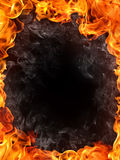 Fire Background. Fire isolated on black Royalty Free Stock Photos