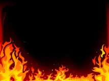 Fire background. Fire and flames  background Royalty Free Stock Photos