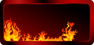 Fire background. Fire and flames  background Royalty Free Stock Photography