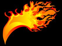 Fire background. Fire and flames  background Stock Images
