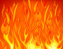 Fire background. Vector of bright fire background Stock Photos