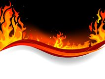 Fire background. Fire and flames vector background Stock Images