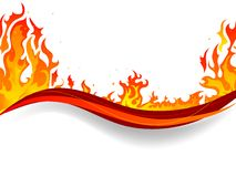 Fire background. Fire and flames vector background Royalty Free Stock Image