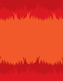 Fire Background. Fiery background with space for text in the center Stock Images