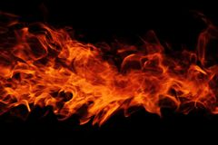 Fire background. Big fire background in the dark night Royalty Free Stock Images
