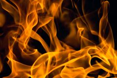 Fire background. Flames over black - perfect fire background Royalty Free Stock Photography
