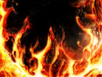 Fire background. Abstract fire background generated in the  computer Stock Images