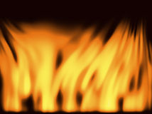 Fire background. With the flames Vector Illustration