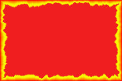 Fire background. With the flames Stock Illustration