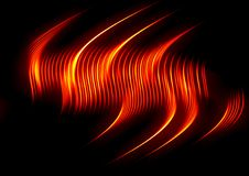 Fire background. Abstract background, fire wave on black Royalty Free Stock Photo