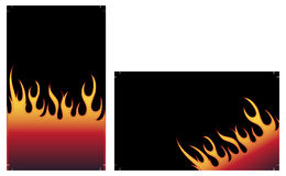 Fire background. With place for your text Royalty Free Stock Image