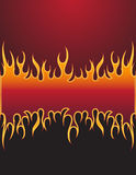 Fire background. With place for your text Stock Images