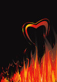 Fire background. Fire background is my creative drawing and you can use it for your design, made in vector, Adobe Illustrator 8 EPS file Stock Images