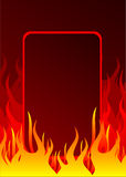 Fire background. With place for your text Royalty Free Stock Photos