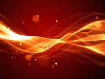 Fire background. An abstract illustration of a red background with flames or wave pattern Royalty Free Stock Images