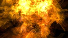 Fire background. Animation of a hot fire background stock video