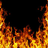 Fire background on black Royalty Free Stock Image