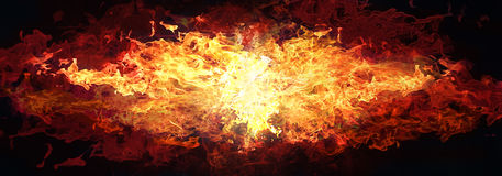 Fire background. Fire burning sideways background illustration Stock Photos