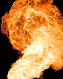 Fire background isolated on black Stock Photo