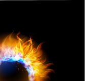 Fire background, Royalty Free Stock Photo