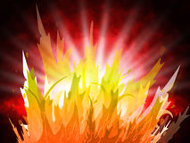 Fire Background Represents Fiery Inferno And Design. Fire Background Showing Campfire Design And Flame Stock Image