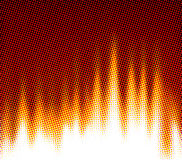 Fire background of a set of points. Royalty Free Stock Photos