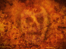 Fire background. With skulls in the flames. Great for music and heavy metal styles Royalty Free Stock Photo