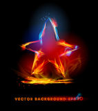 Fire background, Star symbol Stock Photos