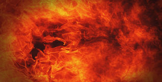Fire background a symbol of hell and inferno Royalty Free Stock Images