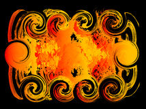 Fire background for text. Vector Illustration of Abstract Fire Flame background  on black for your text Royalty Free Stock Photos