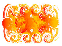Fire background for text. Vector Illustration of Abstract Fire Flame background on white for your text Stock Photography