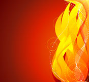 Fire background vector Royalty Free Stock Photography